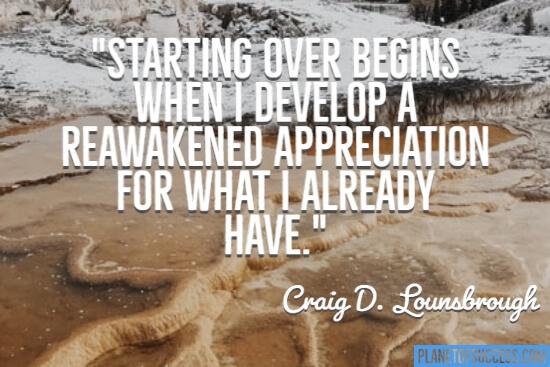 A reawakened appreciation
