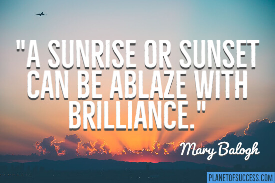 Ablaze with brilliance