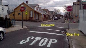 Stop Line and crosswalk 300x169
