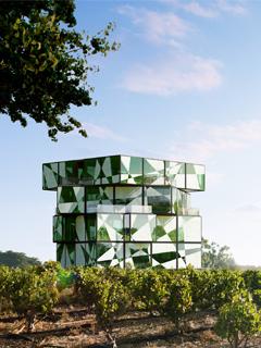 Rubik's Cube style, wine visitor centre