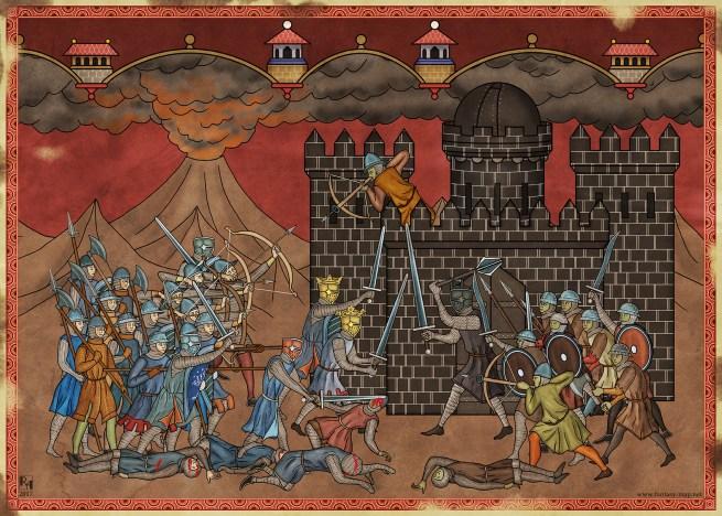 Isildur et Elendil contre Sauron