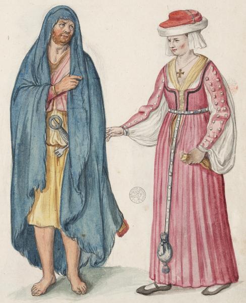 16th century Irish man and woman