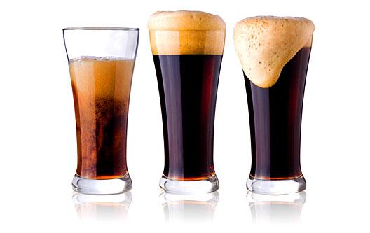 4 3 dark beers poured h528