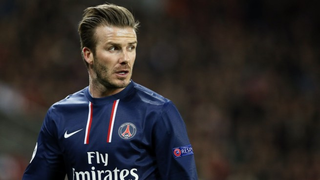 david beckham psg retire