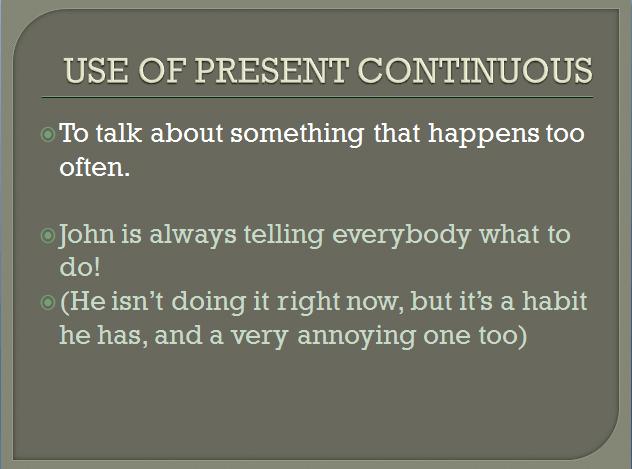 present continuous 9
