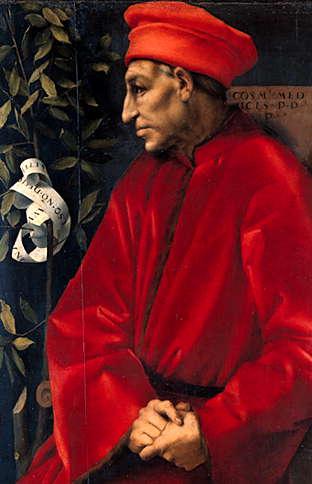 Cosimo de' Medici Jacopo da Pontormo (ca 1518)
