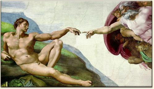michelangelo creation adam