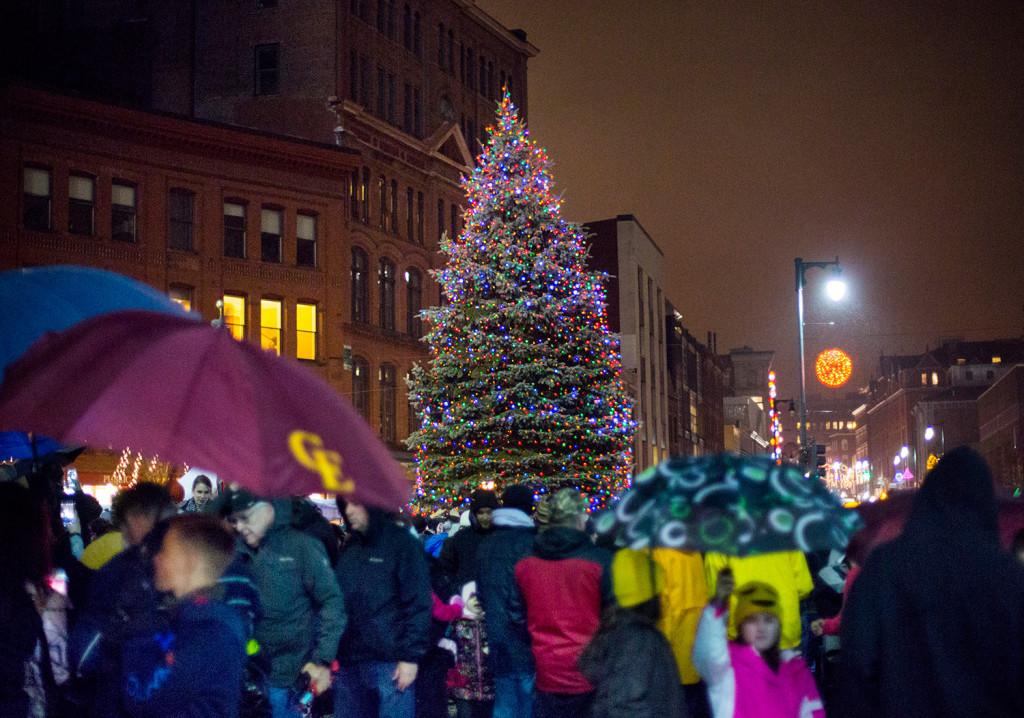 Portland Christmas Tree.Portland Maine Xmas Tree Lighting