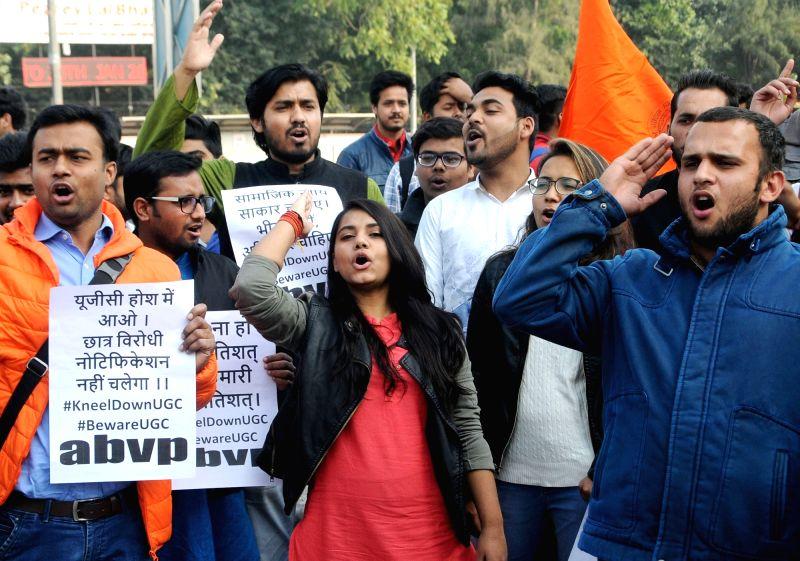ABVP demonstration against UGC