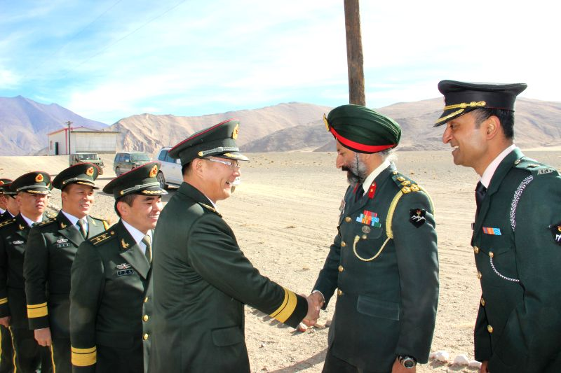 Photos :: Chushul: Indian and Chinese military personnel meet on ...