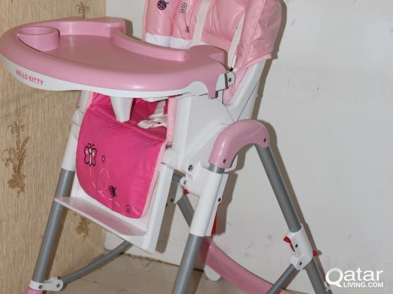 hello kitty high chair glider rocking uk new qatar living sold
