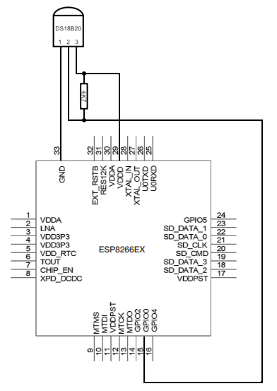 DS18B20 and ESP8266