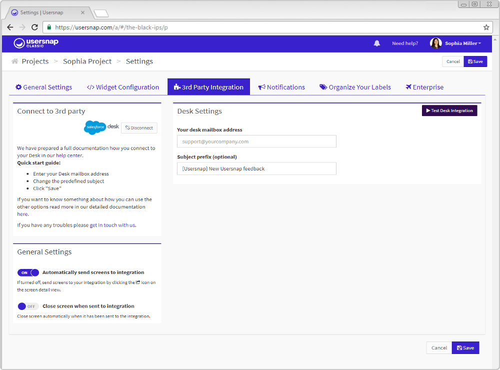 Salesforce Deskcom