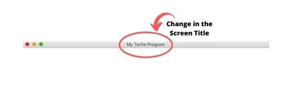 Mise à jour du titre de l'écran Python Turtle
