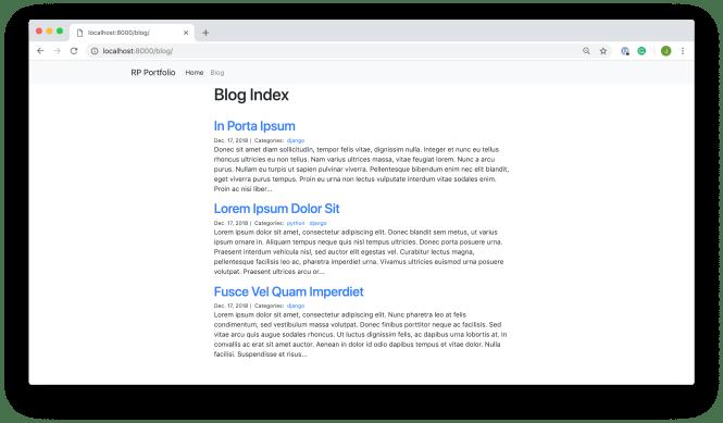 Blog Index View