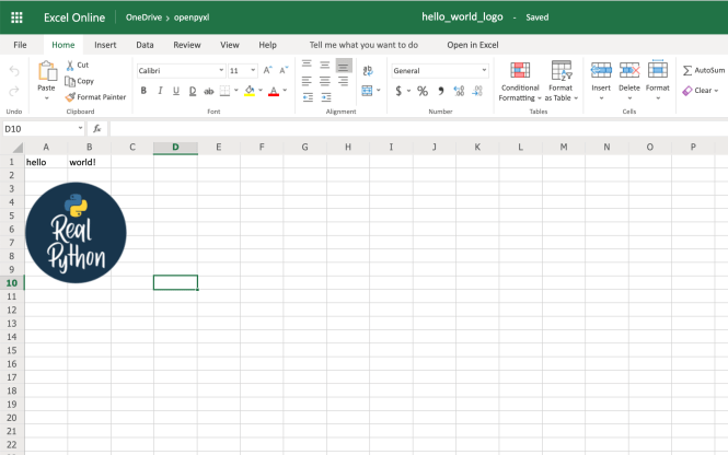 Example Spreadsheet With Image