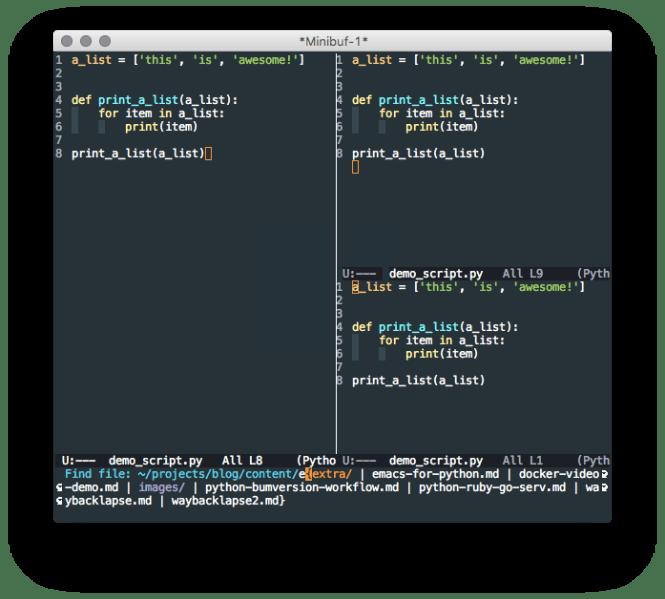 Emacs fonctionnalités simples