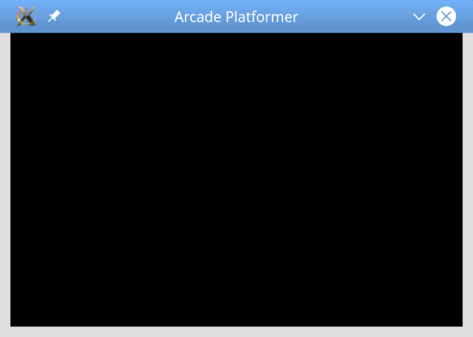 The initial play test results in a black screen.