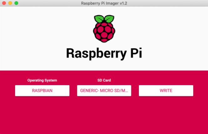 Écriture de l'imageur Raspberry Pi