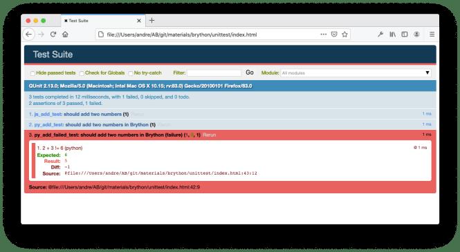 QUnit HTML Test Suite