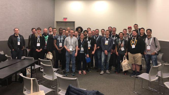 Tous les participants de l'espace ouvert Real Python à PyCon