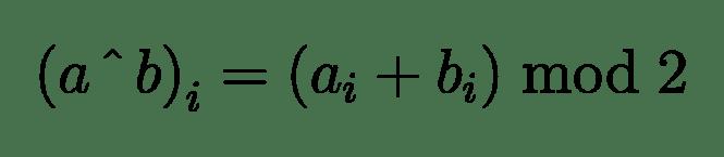 La formule arithmétique de l'opérateur XOR bit à bit