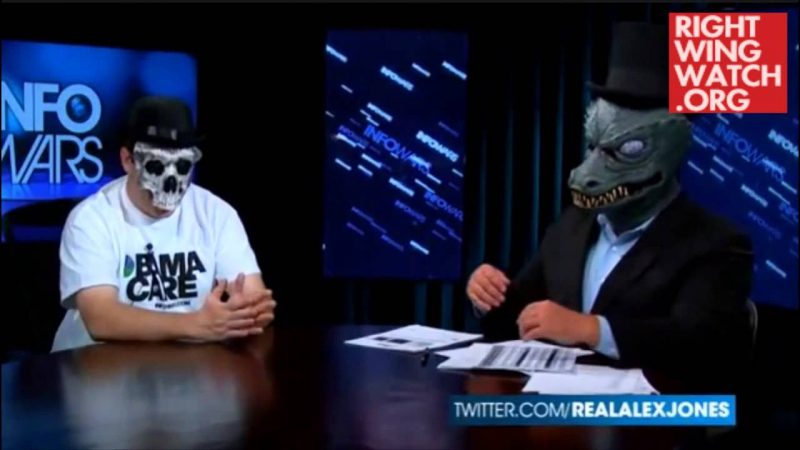 Alex Jones Channels Lizard From Outer Space To Reveal