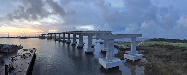 Slope Under Concrete Protection Bridges