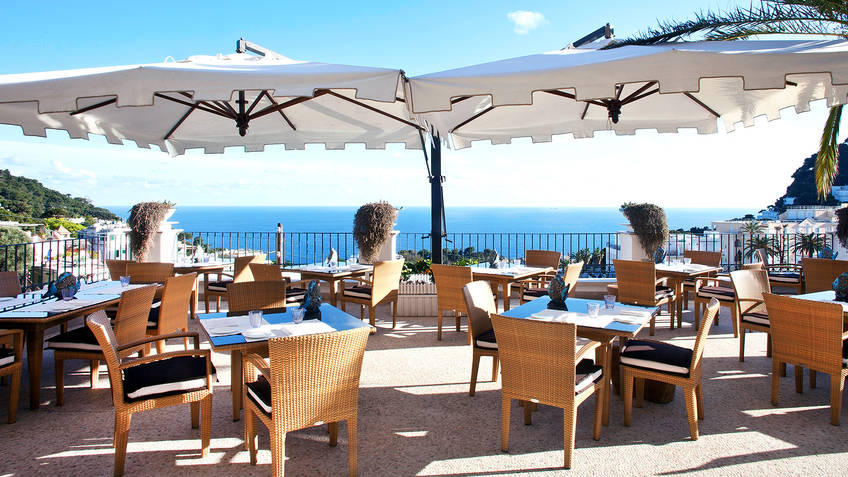 Restaurant Terrazza Tiberio on Capri Tastes of Tiberio