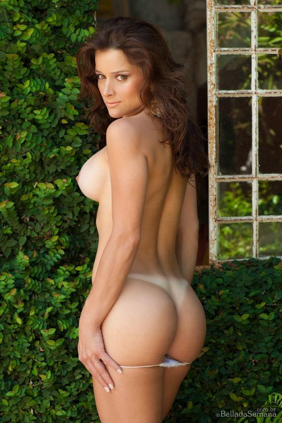 Suzana Kviatkoski, brunette, strip, busty, ass, tanlines