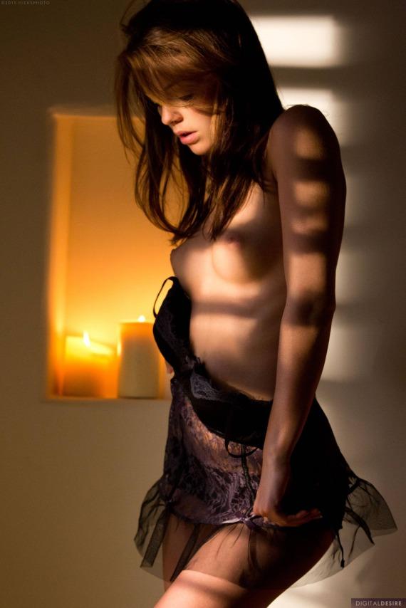 Kiera Winters, brunette, strip, nude, perky, lingerie