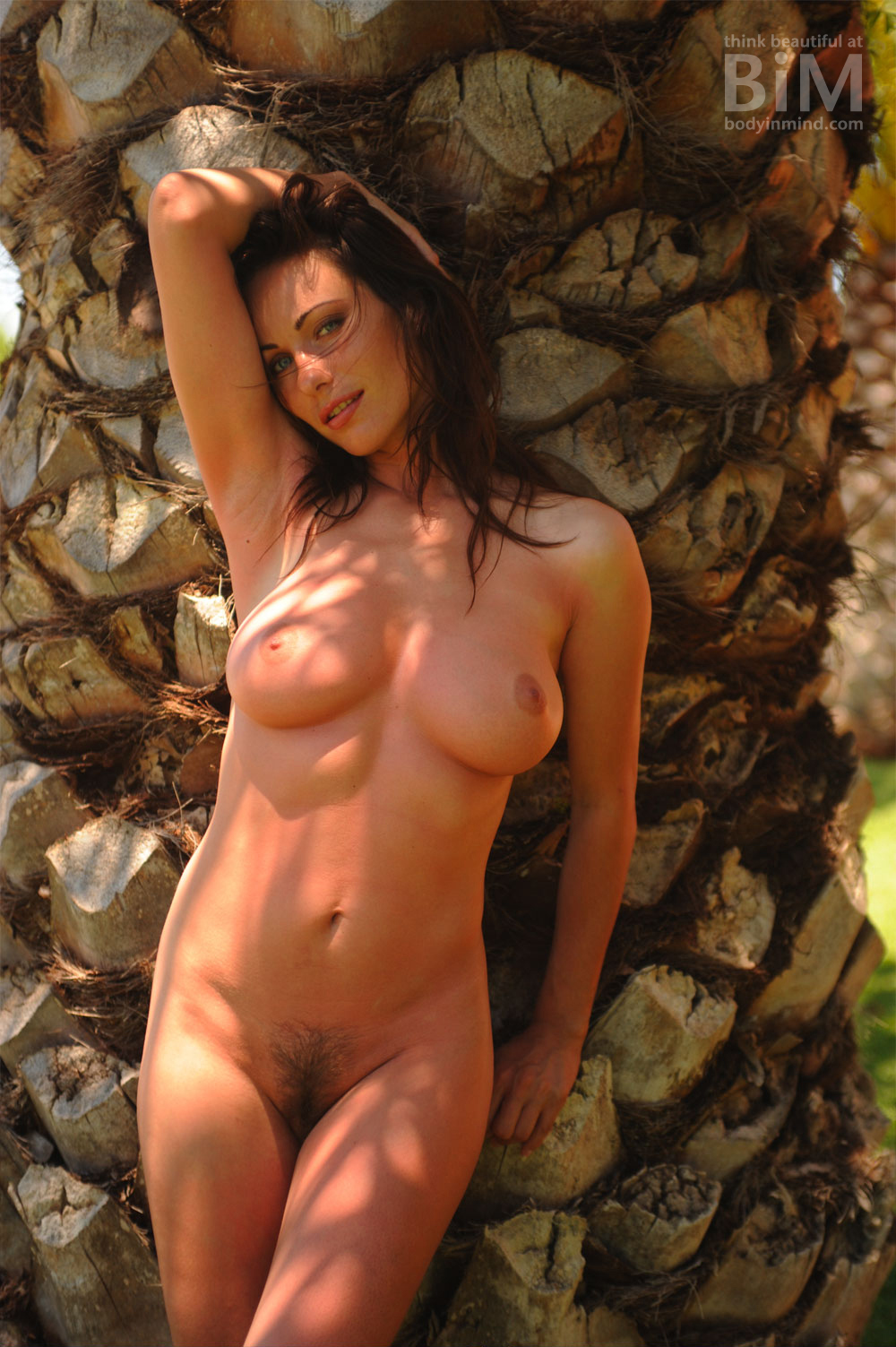 Kyla Cole, naked, bush, outdoors, brunette