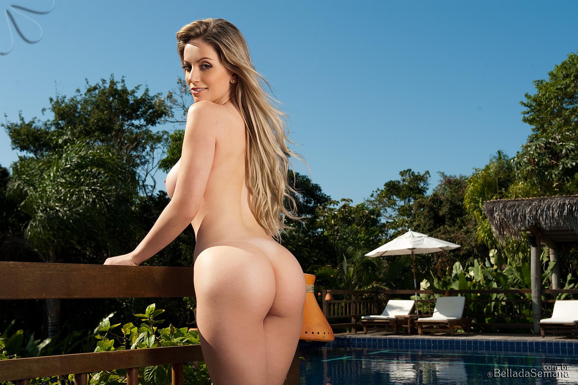 Franciele Perao, blonde, strip, nude, busty, ass, bikini