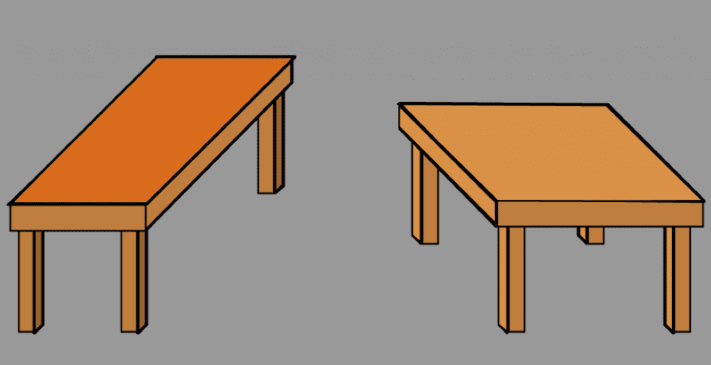 Shepard's 'Turning the Tables' illusion
