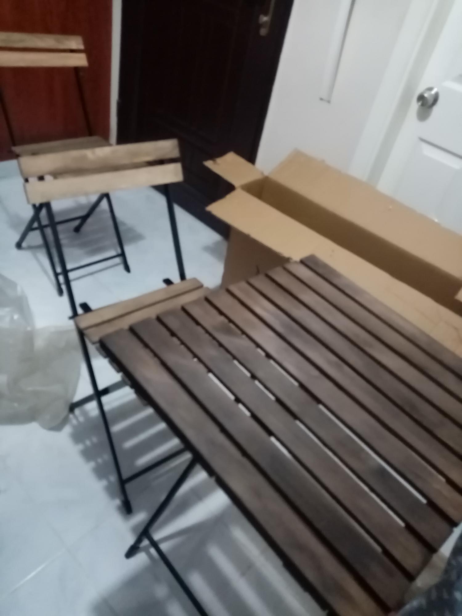 Ahsap Katlanabilir Masa Sandalye Set A101