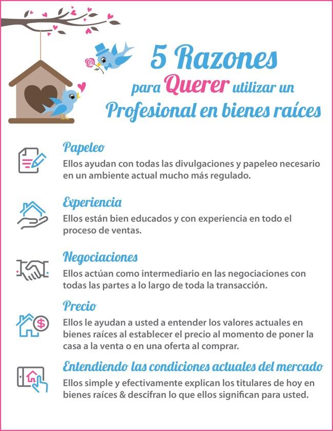 5 Razones para querer utilizar un profesional en bienes raíces [infografía]   Simplifying The Market