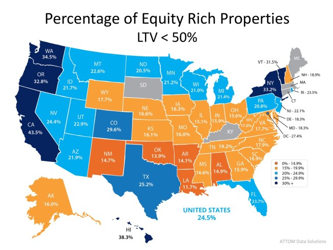 25% of Homes with a Mortgage are Now Equity Rich!   Simplifying The Market