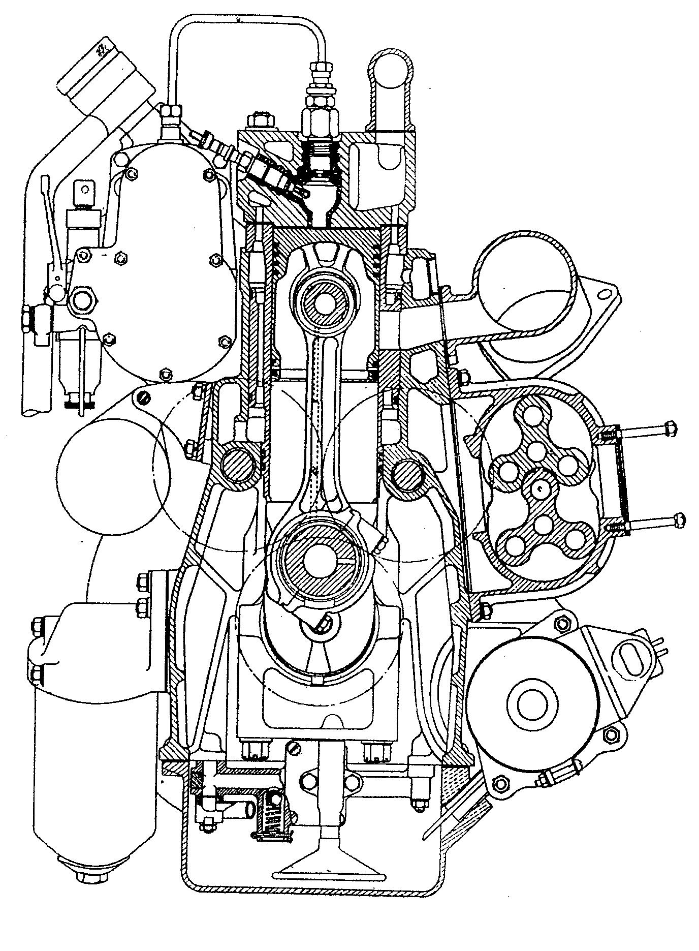 End view of l40 engine