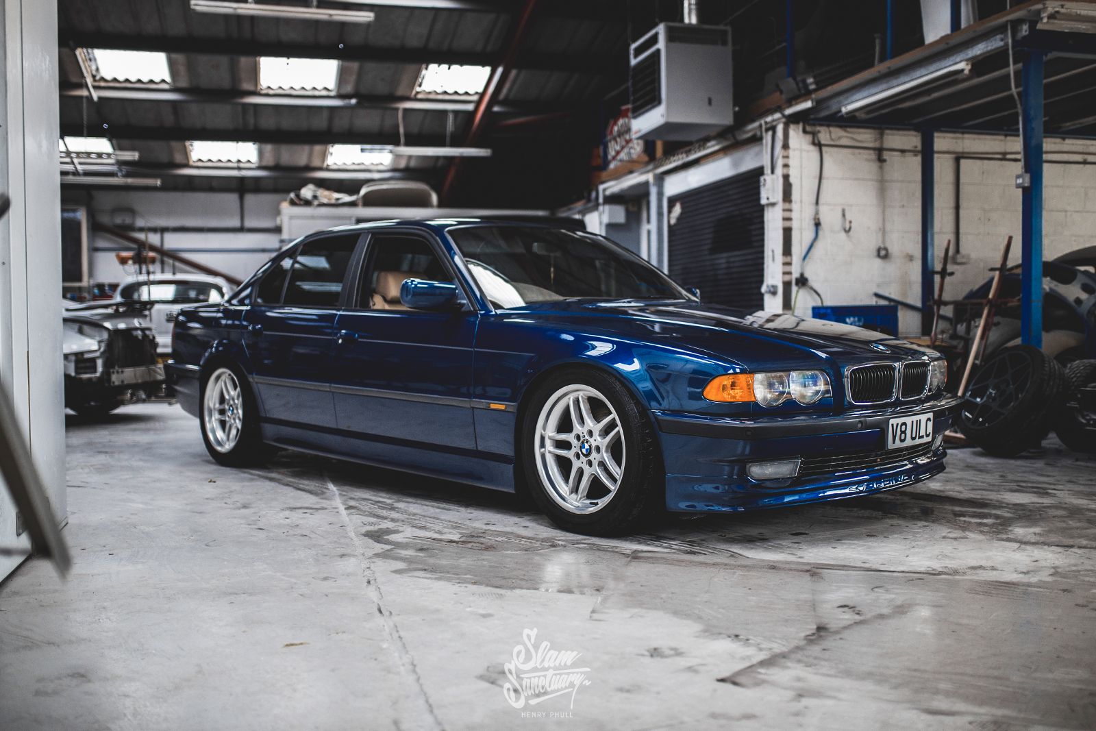 hight resolution of this is how the e38 looked on its bc racing coilovers prior to the air conversion