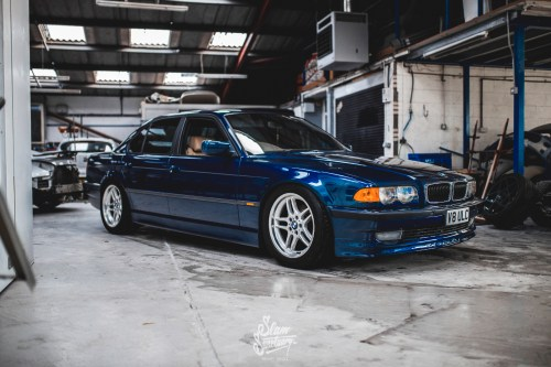 small resolution of this is how the e38 looked on its bc racing coilovers prior to the air conversion