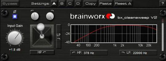 Brainworx bx cleansweep