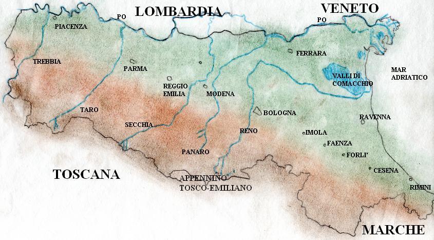 Emilia Romagna Cartina Fisica E Politica.Emilia Romagna Cartina Fisica E Politica Drkevinos