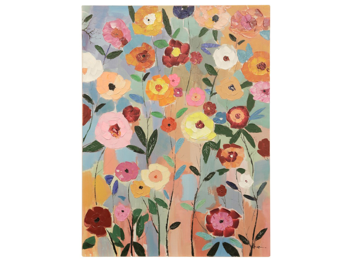 bright flowers canvas art