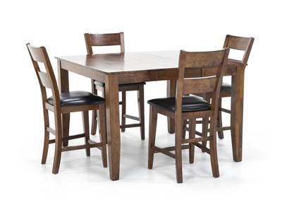 kitchen table and chairs with wheels adirondack folding dining sets steinhafels amber 5 pc counter height set