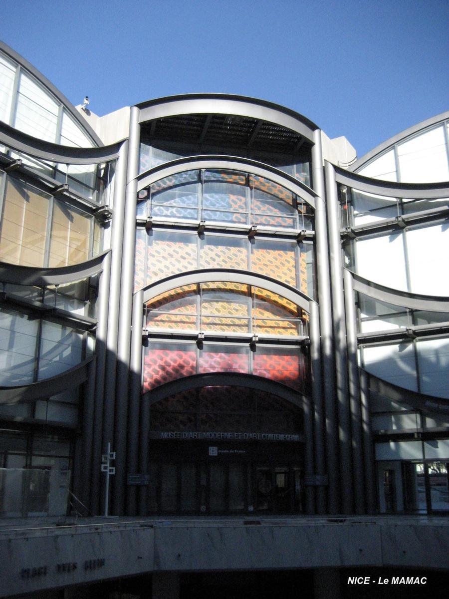 Musée D'art Moderne Et D'art Contemporain De Nice : musée, d'art, moderne, contemporain, Musée, D'art, Moderne, Contemporain, (Nice,, 1990), Structurae