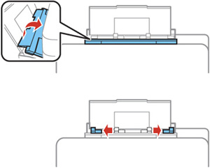 Loading Paper and Envelopes in the Rear Paper Feed Slot