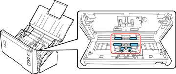 Limpeza da parte interna do scanner