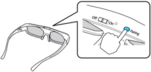 Pairing the 3D Glasses with the Projector