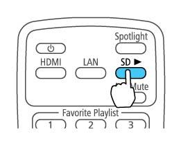 Selecting a Playlist on an SD Card