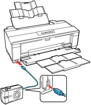 Cómo imprimir desde una cámara conectada al producto